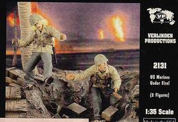 - VERLINDEN - Figurines US Marines Under Fire ! ( 2 Figurines ) - 1/35°- Réf 2131 - Figurines
