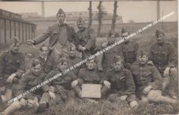 "FOTOKAART 31.7.1922 MILICIENS SOLDATEN ""LEVE DE STROPPEN"" KAZERNE 8/9 BERCHEM GENIE CAPORAL J DE BRUYNE 2DA 4 COMPAGNIE - Antwerpen"