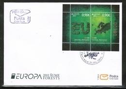 CEPT 2011 ME MI BL 10 MONTENEGRO FDC - Europa-CEPT
