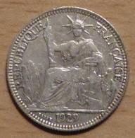 INDOCHINE 10 CENT 1929 EN ARGENT - Colonies