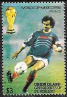 Union Island (Grenadine): Specimen, Calciatori In Azione, Footballers In Action, Les Footballeurs En Action - 1986 – Messico
