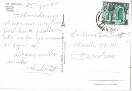 34862. Postal LOGROÑO 1966. Fechador ESTACION Logroño. Vista De Los Jardines - 1931-Hoy: 2ª República - ... Juan Carlos I