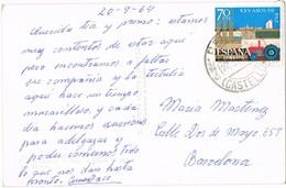 34863. Postal BENASAL (Castellon) 1964. Vista Fuente En Seguras, Plaza Y Hoteles - 1931-Hoy: 2ª República - ... Juan Carlos I