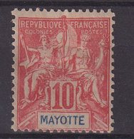 MAYOTTE : N° 15 *. FORTE CHARNIERE . 1900/07 . ( CATALOGUE YVERT ) . - Nuovi