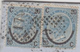 LETTRE ITALIE. 29 MAG 1866. 40c. N° 22 TYPE III X 2. RAMBALOI GENOVA POUR LYON. ITALIE LANSLEBOURG 4.  /  2 - 1861-78 Victor Emmanuel II.