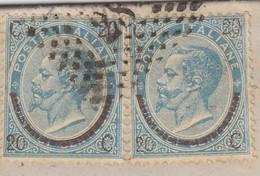 LETTRE ITALIE. 30 MAG 1866. 40c. N° 22 TYPEI X 2. ROLLE TORINO POUR LYON. ITALIE LANSLEBOURG 4.  /  2 - 1861-78 Victor Emmanuel II.