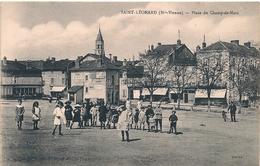 Cpa 87 St Léonard Place Du Champ De Mars - Saint Leonard De Noblat