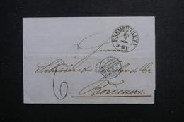 ALLEMAGNE - Oblitération De Bremen Sur Lettre En 1864 Pour La France - L 48489 - Alemania
