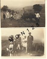 LANOUEE MORBIHAN 1930-LIEUSE TIREE PAR DES BOEUFS-2 PHOTOS DE FAMILLE 11,5x7 Cms - Plaatsen