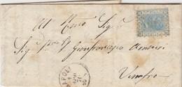 LETTRE ITALIE. 1 APR 70. 20c. 2401 NAPOLI POUR VIMFRO.  /  2 - 1861-78 Victor Emmanuel II.