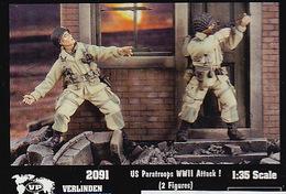 - VERLINDEN - Figurines US Paratroops WWII Attack ! ( 2 Figurines ) - 1/35°- Réf 2091 - Figurines