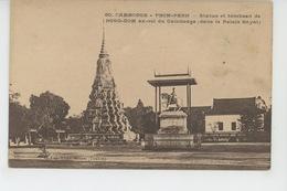 ASIE - CAMBODGE - PNOM PENH - Statue Et Tombeau De NORO DOM , Ex Roi Du Cambodge (dans Le Palais Royal ) - Cambodja