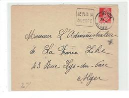 MARCOPHILIE ALGERIE - DAGUIN - BLIDA - ALGER - JE FAIS LA GUERRE - TTB - 1942 - Lettres & Documents