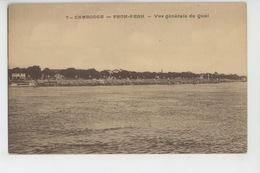 ASIE - CAMBODGE - PNOM PENH - Vue Générale Du Quai - Cambodja