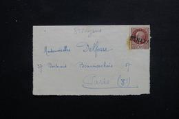 """FRANCE - Griffe Linéaire """" Saint Nazaire """" Sur Type Pétain Sur Carte Lettre Pour Paris - L 48494 - Postmark Collection (Covers)"""