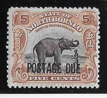 Bornéo Du Nord Taxe N°34 - Eléphant - Neuf * Avec Charnière - TB - Asia (Other)
