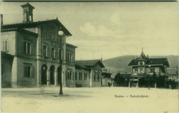 SWITZERLAND - ARGOVIA / BADEN - BAHNHOFPLATZ - EDIT TIMOTHEE JACOT - 1909 (BG6445) - AG Argovie