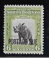 Bornéo Du Nord Taxe N°35 - Rhinoceros - Neuf * Avec Charnière - TB - Asia (Other)