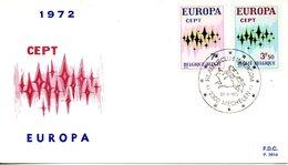 BELGIQUE. N°1623-4 De 1972 Sur Enveloppe 1er Jour. Europa'72. - Europa-CEPT