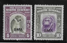 Bornéo Du Nord Administration Militaire N°4 & 7 - Neuf * Avec Charnière - TB - Stamps
