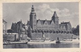 AK - Polen - Stettin - Schiffe Vor Dem Regierungsbehörde - 1942 - Polen