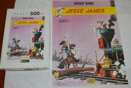 """LUCKY LUKE """"JESSE JAMES"""" PUZZLE NATHAN DE 500 PIECES 49X36 Cm Complet Et En Bon état Voir Photo - Puzzles"""