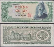 KOREA - 100 Won ND (1965) P# 38 - Edelweiss Coins - Corea Del Sur