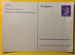 9547 - Entier Postal / Ganzache Hitler 6 Pf Violet/mauve - Ganzsachen
