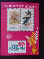 INDONESIA BLOK 1984 VOGELS BIRDS POSTFRIS, MNH - Indonesia