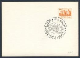 Poland Polska Polen 1974 Karte Card – Tag Der Eisenbahner / Railwayman Day / Jour Du Cheminot, Krakow - Treinen