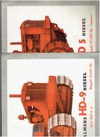 TRACTEUR A CHENILLES ALLIS CHALMERS HD9 ET HD5 DIESEL ET CHARRUES HYDRO OFFSET TRACTOR DIVISION MILWAUKEE USA - Tractors