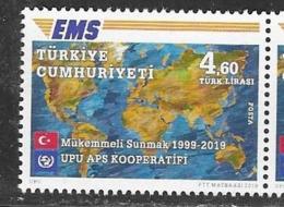 TURKEY, 2019, MNH, EMS, POST,1v - Post