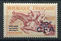 RC 14757 REUNION CFA N° 318 HIPPISME VARIÉTÉ DE SURCHARGE NEUF * MH TB - Nuovi
