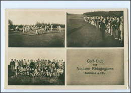 U8981/ Südstrand A. Föhr Norsdee-Pädagogium  Golf-Club Foto AK 1929 - Föhr