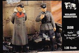 - VERLINDEN - Figurines German Top Brass WWII ( 2 Figurines ) - 1/35°- Réf 2158 - Figurines