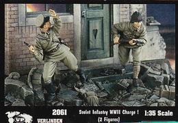 - VERLINDEN - Figurines Soviet Infantry  WWII Charge ! ( 2 Figurines ) - 1/35°- Réf 2061 - Figurines