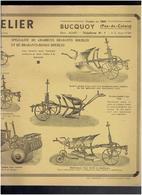 MATERIEL AGRICOLE ETABLISSEMENTS CANDELIER A BUCQUOY PAS DE CALAIS HOUE PULVERISATEUR CHARRUE BRABANT DECHAUMEUR - Tracteurs