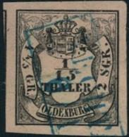 1853, 1/15 Thaler Breitrandig Gestempelt VECHTA - Oldenburg