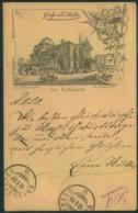 """HALLE (SAALE), Vorläferkarte Gelaufen 1889 In Die Schweiz. Abb. """"Das Stadttheater"""" - Allemagne"""