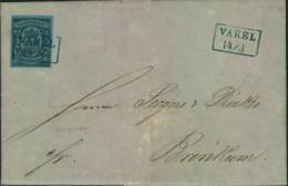 """1861, Kompletter Brief Der """"Eisenindustrie Und Maschinenbau AG Varel A/D Jade"""" Mit 1 Groschen (Nr. 6a) - Oldenburg"""