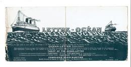 POSTE MARITIME - LETTRE OCEAN VIERGE - 1910 - Marcophilie (Lettres)