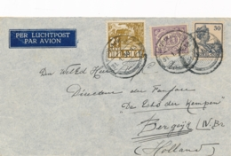 Nederlands Indië - 1936 - 42,5 Cent Mixed Franking Op LP-cover Van PV1 PROBOLINGGO Naar Bergeijk / Nederland - Niederländisch-Indien