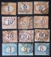 Italia Regno - Segnatasse Del Periodo 1870 1890 - 12 Valori Usati - Italien