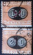 Italia Regno 1890/91 - Segnatasse 10c E 20c Usati - Unif. 17/18 - Italien