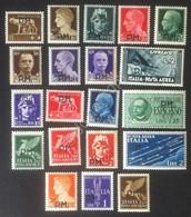 Italia Regno 1943 - Posta Militare - Serie 20 Valori MH* - Unificato 1/20 - Italië