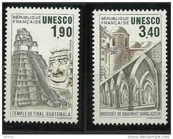 "FR Service YT 91 à 92 "" UNESCO "" 1986 Neuf** - Mint/Hinged"
