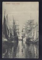 ITALY TRIESTE CANALE GRANDE SHIP OLD POSTCARD - Trieste