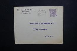 NOUVELLE CALÉDONIE - Enveloppe De Nouméa Pour Paris En 1917, Affranchissement Type Cagou Bdf - L 48509 - Nieuw-Caledonië