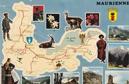 73. SAVOIE. CARTE MULTI VUES  ET PARCOURS TOURISTIQUE ILLUSTRÉE DE LA VALLÉE DE LA MAURIENNE - Unclassified