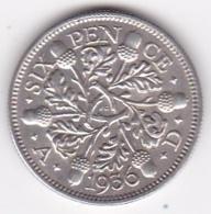 Grande Bretagne. 6 Pence 1936. George V, En Argent - H. 6 Pence